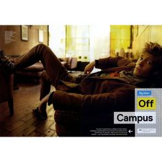 GQ Editorial Big Man Off Campus, August 2009 Shot #1 - MyFDB ❤ liked on Polyvore featuring editorials and hunter parrish
