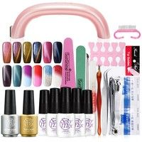 Wish | Sexymix Nail Tools Set 9W UV Gel Lamp & 5Pcs Soak off UV Gel Nail Art Manicure