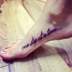 One step at a time foot tattoo tattoo ideas for Tattoo one step at a time