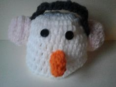 baby boy/girl hand Crochet snowman hat months by crochetfifi Crochet Snowman, Snowman Hat, Girls Hand, Hand Crochet, 6 Months, Hello Kitty, Baby Boy, Beanie, Trending Outfits