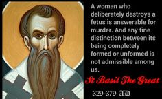St Basil The Great on abortion