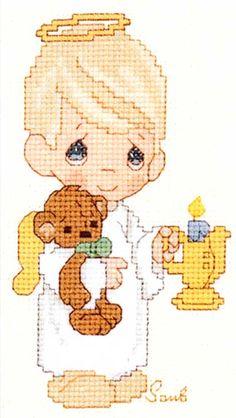 Precious moments - lots of free patterns | Cross stitch ...