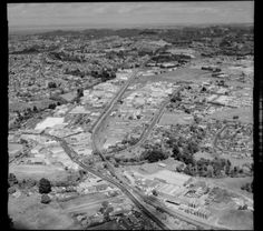 1984 Aerial of railway line at Henderson, Auckland. Henderson Valley Rd. Corban Winery bottom right. Whites Aviation Ltd :Photos WA-77403-F. Alexander Turnbull Library, Wellington, NZ. http://natlib.govt.nz/records/22840435