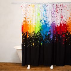 Crayola Cosmic Burst Water Repellent Shower Curtain (Cosmic Burst Shower  Curtain), Purple