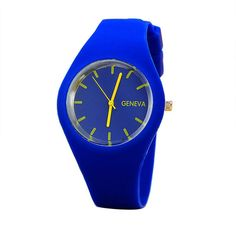 Geneva Watches Women Sports Candy-colored 12 Colors Jelly Silicone Strap Leisure Watch Free Shipping LYW1