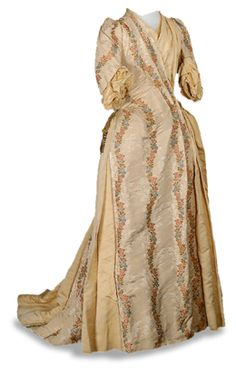 Gown worn by Mary McAllister Beaver to her husband's Inaugural in 1887. James A. Beaver served as the Governor of Pennsylvania from 1887 until 1891.