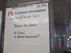 Angel Tube Thought of the Day - 3rd August 2011 by Annie Mole, via Flickr