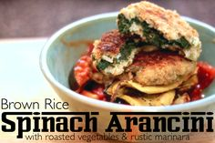 Jenessas Dinners: Brown Rice Spinach Arancini
