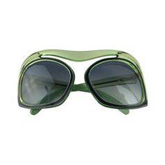 1970's Christian Dior Mint Green Sunglasses.