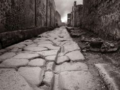 Roman way in Pompeii Pompeii And Herculaneum, Image Now, Outer Space, Preserves, Countryside, Sustainability, Royalty Free Stock Photos, Sidewalk, Cityscapes