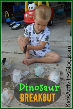 Games with Ice: Dinosaur Breakout- perfect for hot days!