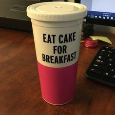 Kate spade- eat cake for breakfast Brand new Kate spade cup! Came with a broken straw so looking to sell. Anyone who already has a Kate spade or could use a different straw. kate spade Accessories