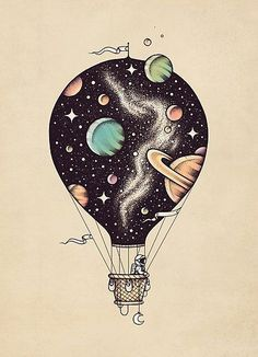'Interstellar Journey' Photographic Print by buko 'Interstellar J. - 'Interstellar Journey' Photographic Print by buko 'Interstellar Journey' Pho - Art Inspo, Kunst Inspo, Inspiration Art, Space Drawings, Cute Drawings, Tattoo Drawings, Simple Drawings, Colorful Drawings, Tattoo Sketches