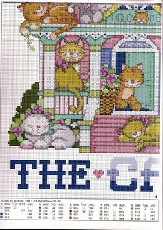 cross stitch  - Home Is Where the Cats Are