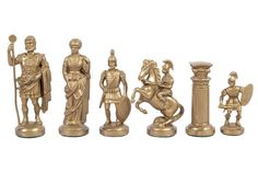 Roman Chess Pieces gold - black weighted | eBay