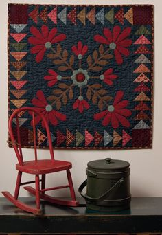 Martingale - Elegant Quilts, Country Charm love the combination of applique and piecing and the colors