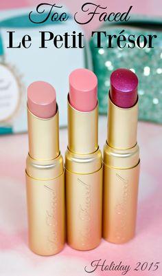 Too Faced Le Petit Tresor Lipstick Set All Things Beauty, My Beauty, Beauty Makeup, Lipstick Set, High End Makeup, Makeup Blog, Creative Makeup, Too Faced Cosmetics, Face And Body