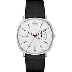 Men's Wrist Watches - Skagen Mens SKW6256 Rungsted Black Leather Watch *** Details can be found by clicking on the image.