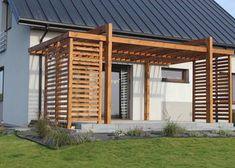 Front Yard Garden Design, Home Garden Design, Backyard Patio Designs, Pergola Designs, Pallet Patio Decks, Wooden Pergola, Outdoor Pergola, Outdoor Retreat, Backyard Retreat