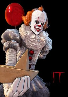"""""""You'll float too."""" It fan poster will float Le Clown, Creepy Clown, Scary Movies, Horror Movies, Horror Drawing, It The Clown Movie, Fan Poster, Pennywise The Dancing Clown, Horror Artwork"""