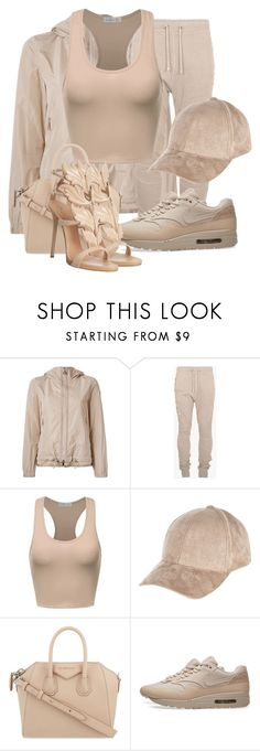 """Untitled #3549"" by xirix ❤ liked on Polyvore featuring Moncler, Balmain, River Island, Givenchy, NIKE and Giuseppe Zanotti"