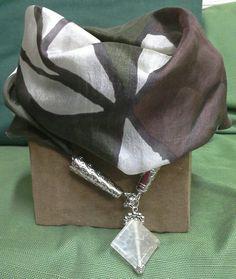 Foulard necklace in seta pura