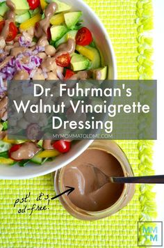 Dr Fuhrman Eat to Live Program Recipe Oil Free Balsamic Vinaigrette dressing nutritarian salad dressing