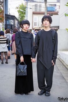 All Black Harajuku Styles w/ Comme des Garcons, Yohji Yamamoto & Prada (Tokyo Fashion, Asian Street Style, Tokyo Street Style, Japanese Street Fashion, Tokyo Fashion, Harajuku Fashion, New Fashion, Street Styles, Harajuku Style, Fashion 2015