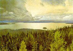 Hugo Alfven: Utsikt över Siljan från Alfvénsgården i Tällberg 1925