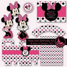 Free downloadable #Minnie Mouse party printables