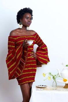 #affiliatelink This off the shoulder gem is bound to turn heads. African Fabric, African Dress, African Print Fashion, Fashion Prints, Dress First, Fashion Dresses, Bodycon Dress, Feminine, Curves