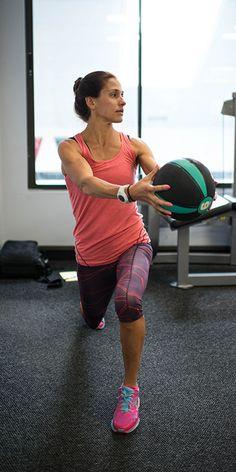 Set a goal to build strength using Kara Goucher's core routine.