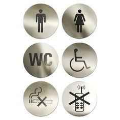 Semne Autoadezive Rotunde pentru Toaleta Restaurant, Bar, Preturi