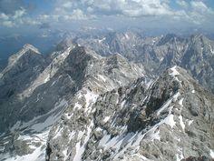 Zugspitze, Bavaria/Germany via Wikipedia commons