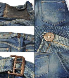 SANFORIZED Vintage Jeans, Vintage Outfits, Vintage Fashion, Vintage Clothing, Fashion Details, Timeless Fashion, Blue Jeans, Denim Jeans, Denim And Co
