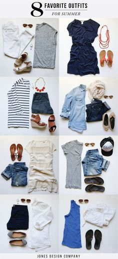 8 Favorite Outfits for Summer (with links for sources!) / jones design company