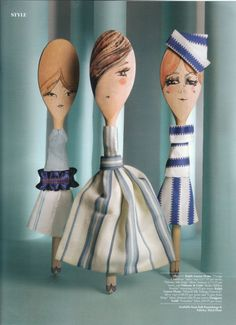 Material Girls by Abigail Edwards #spoons #lepels #crafts #diy