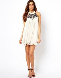 Image 4 ofLipsy Scallop Halter Dress