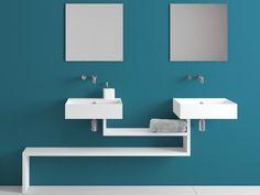 BASICA Wall-mounted washbasin by Lago design Daniele Lago
