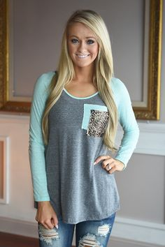 Mint Glam Top – The Pulse Boutique