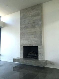 Wonderful Images Fireplace Hearth tile Ideas Excellent Photo Fireplace Hearth removal Concepts concrete fireplace concrete fireplace surround c Fireplace Hearth Tiles, Modern Fireplace Decor, Contemporary Fireplace Designs, Fireplace Tv Wall, Concrete Fireplace, Fireplace Remodel, Fireplace Surrounds, Lafayette House, Floating Fireplace