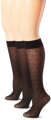 adc7318e6 Ellen Tracy Women s 3 Pair Assorted Trouser Sock