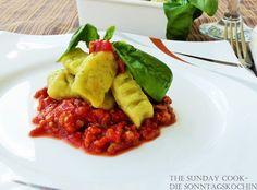 The Sunday Cook - Die Sonntagsköchin: Heut kommt auf den Tisch... Basilikum-Gnocchi´s mi...