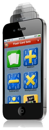 FlashCard Apps for multiplication, division, addition and subtraction. My 7 year old son loves this! When we have a few minutes in the car while waiting for whatever, we use this app. The very first day we used it, he had a test and came home so happy because he got further on his timed test than ever before. Cyndy