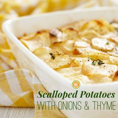 A lighter, healthier version of scalloped potatoes!