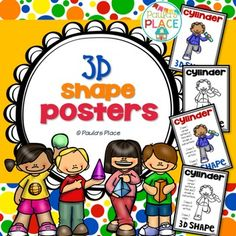 This pack provides 3D Shapes – Posters on some of the most well known 3D shapes. There are two versions of the 3D Shapes – Posters each in color and black/white. The first version has the name of the shape, while the second version has some facts about the sides and vertices/corners.