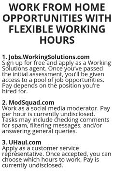 Work From Home Opportunities With Flexible Working Hours - Wisdom Lives Here Ways To Earn Money, Earn Money From Home, Earn Money Online, Online Jobs, Way To Make Money, Legit Work From Home, Work From Home Moms, Work From Home Opportunities, Business Opportunities