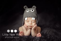 FREE SHIPPING Baby hippo newborn/ baby hat. Perfect baby shower gift or photography prop. $18.00, via Etsy.