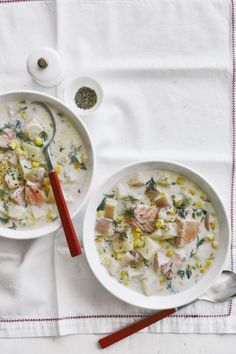 Creamy Salmon Chowder Recipe: Creamy and rich, this satisfying fish chowder is the perfect way to warm up on a cold night.