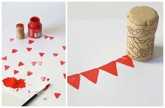 make stamps using wine corks